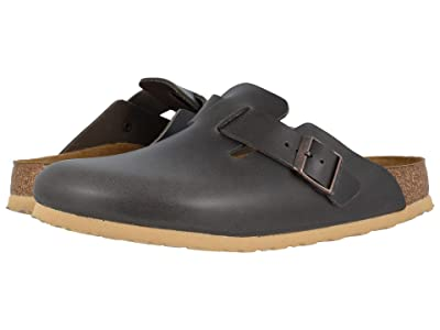 Birkenstock Boston Soft Footbed (Antique Anthracite Leather) Men
