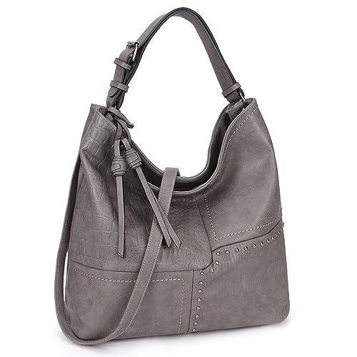 8e9eba3274 Womens Large Shoulder Bag Soft Designer Hobo Bag 3 Tones Purse Laptop Bag