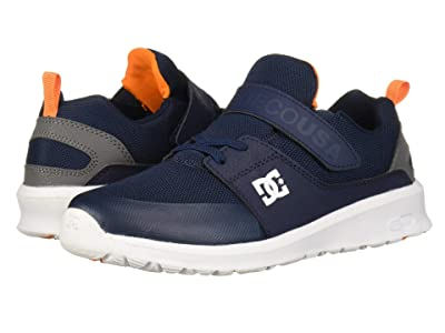 DC Kids Heathrow Prestige EV (Little Kid/Big Kid) (Navy/Grey) Boys Shoes