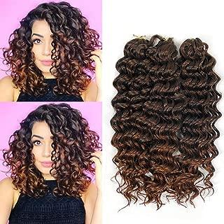 BE 12inch Deep wave crochet braid hair extension ombre bohemian hair 3piece per lot synthetic hair (1B-30 3Piece)