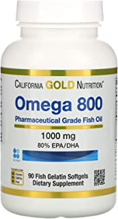 Sponsored Ad - California Gold Nutrition Omega 800 Pharmaceutical Grade Fish Oil, 80% EPA/DHA, Triglyceride Form, 1000 mg,...