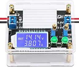 Buck Boost Board, DROK DC 5.5-30V to 0.5-30V 5V 12V 24V Adjustable Power Supply Regulator Module, 4A 35W High Power Voltage Step Up Down Converter Board with Case LCD Display