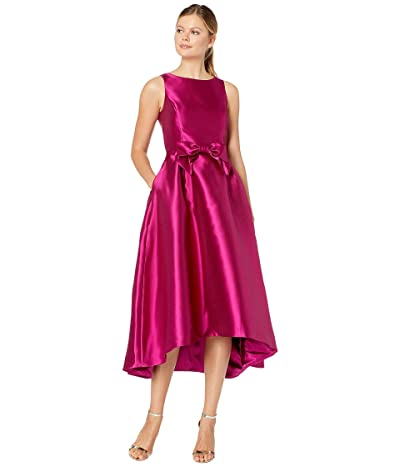 Tahari by ASL Solid Mikado Bow Front Midi Dress (Magenta) Women