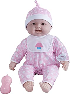 Designed by Berenguer JC Toys 'Lots to Cuddle Babies' 20-Inch Pink Soft Body Baby Doll and Accessories