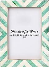 Handicrafts Home 4x6 Picture Photo Frame Chevron Herringbone Art Inspired Vintage Wall Décor Gift Frames [4x6 Geen]