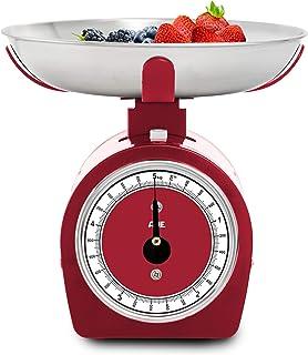 ADE KM1900-2 Küchenwaage analog KM 1900-2 Shirley mechanische Waage für Küche und Haushalt, Metallgehäuse, 5 kilograms, Rot