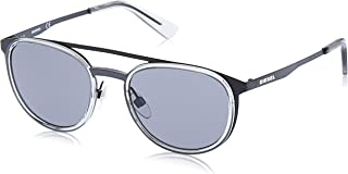 نظارات شمسية للجنسين من ديزل DL029305A53 - لون اسود/دخاني معدني