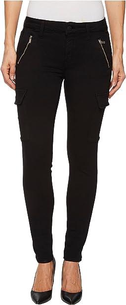 Mavi Jeans - Juliette Mid-Rise Ankle Skinny in Black Twill