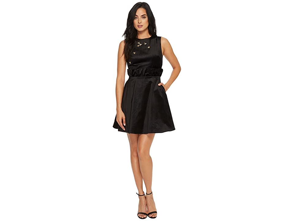 361fec1cc Ted Baker Celeena Queen Bee Ruffle Shift Dress (Black) Women