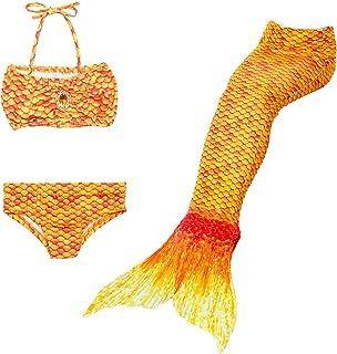 Lito Angels - Costume da bagno a forma di sirena, 3 pezzi