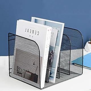 Desktop File Sorter Organizer, 4-Section Bookshelf for Desk Home Office for Home, Office, School, and Store