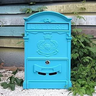 GAIXIA Postbox Outdoor Mailbox Waterproof Mail Box Wall-Mounted Newspaper Box Creative Garden Mailbox European Villa Mailbox (Color : A)