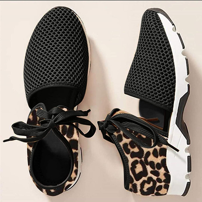 FAMOORE Women's Walking Shoes Sneakers for Women Slip On Sneakers Comfort Breathable Mesh Running Shoes Lightweight Casual Walking Shoes