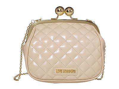 LOVE Moschino Evening Shoulder Bag (Ivory) Handbags