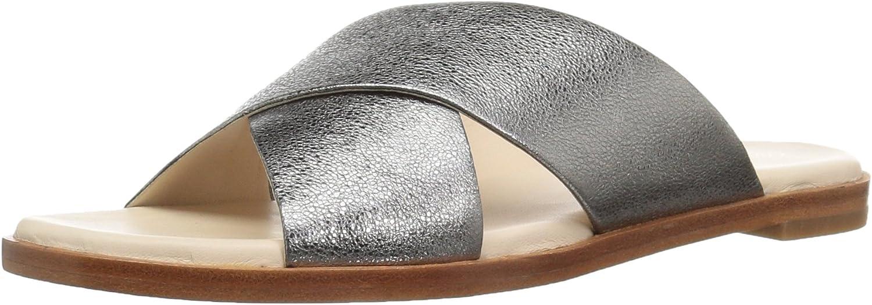 Cole Haan Womens Anica Criss Cross Sandal Slide Sandal