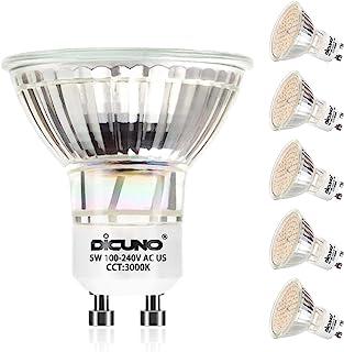DiCUNO LED電球 GU10口金 50W形ハロゲン相当(5W) 電球色 3000K 500lm AC100-240V LEDスポットライト 6個セット