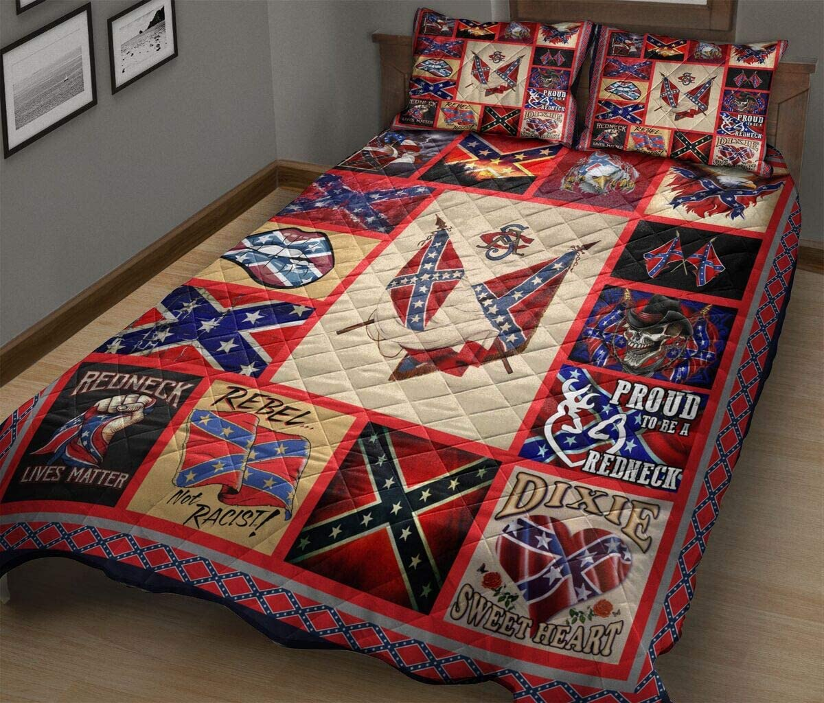 Redneck Lives free Matter - America King Queen Quilt Size Twin Special price