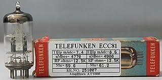 ECC81 Telefunken NOS Nib Diamond Bottom Made in Germany Amplitrex Tested#251007