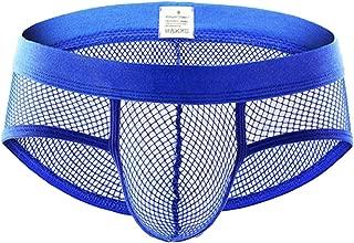 Men's Fashion See-Through Underwear Transparent Soft Sheer Mesh Underpants Briefs