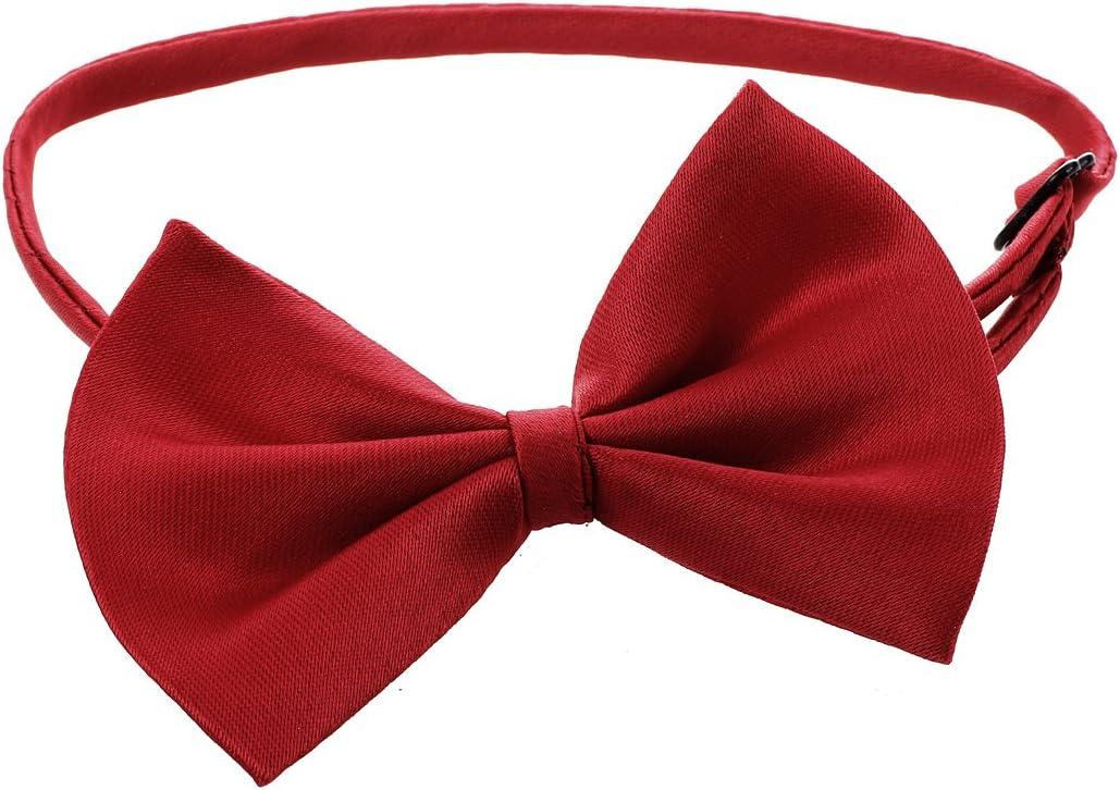 Fltaheroo Collar ajustable para mascotas con pajarita para perro, pajarita para cachorros, accesorio bonito rojo vino