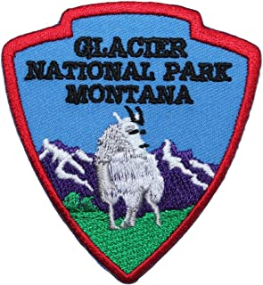 Glacier National Park Montana Patch Travel Badge Embroidered Iron On Applique