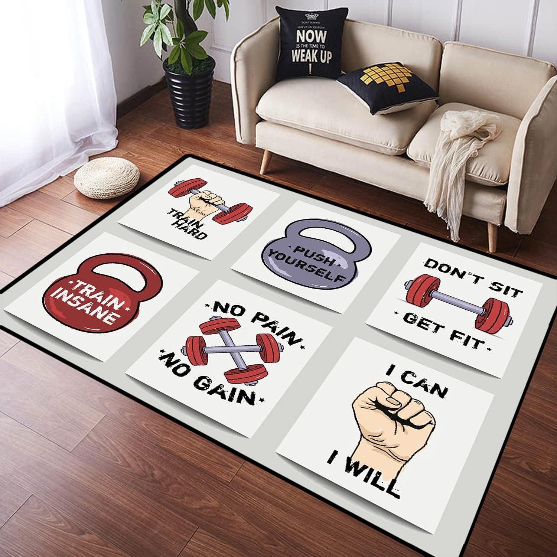 ZOMOY 4 years warranty Long Floor Mat Carpet Motivation Cartoon Max 60% OFF Modern Fitness Ph