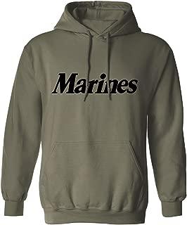 Marines Hooded Sweatshirt in Military Green