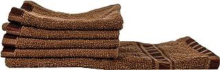 Eurospa Set of 5 Cotton Hand & Face Towel Set Brown