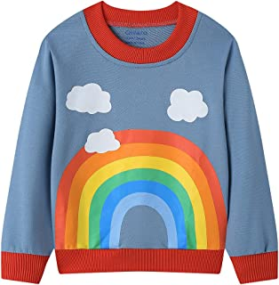 Sponsored Ad – Qiilaro Girls Jumper Long Sleeve Unicorn Rainbow Sweatshirt Cotton Shirt Tops Kids Pullover Children Clothe...