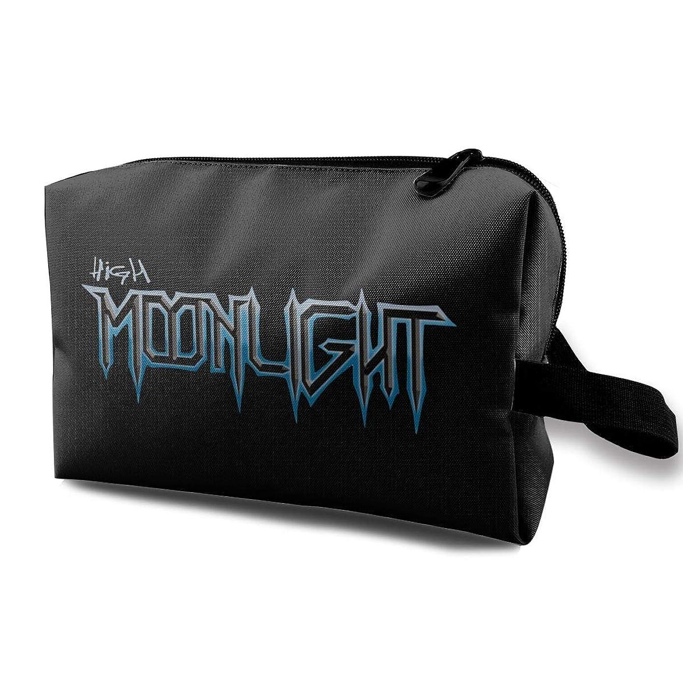 意味最終的に横たわるハイムーンライトバンド High Moonlight Band コスメバッグ 収納箱 洗面用具バッグ 化粧品収納 化粧道具入れ ジッパー付き 大容量 多機能 持ち運び便利 自宅 出張 男女兼用