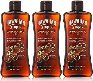 Hawaiian Tropic Dark Tanning Oil, SPF 0, 8 Fluid Ounce (Pack of 3)