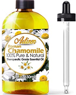 Artizen Roman Chamomile Essential Oil (100% Pure & Natural - UNDILUTED) Therapeutic Grade - Huge 1oz Bottle - Perfect for ...