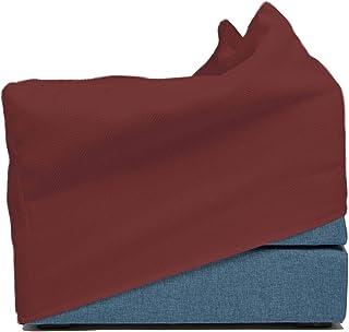 My TOUF: Pouf Letto Singolo, Pouf Letto pieghevole in tessuto, Ecopelle, Microfibra, bianco, nero, rosa, rosso, verde, bei...