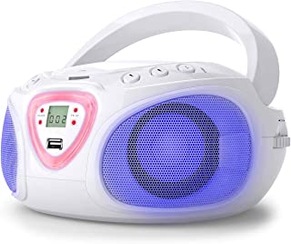 auna Roadie – Radio-CD, Chaîne stéréo Boombox, Lecteur CD, Port USB, MP3, Tuner..