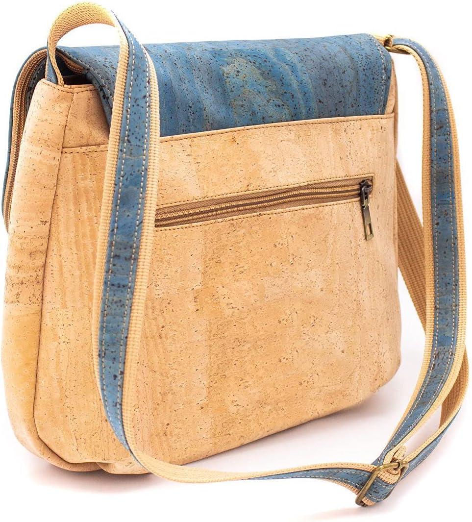 Natural cork color tassel crossbody bag Brown