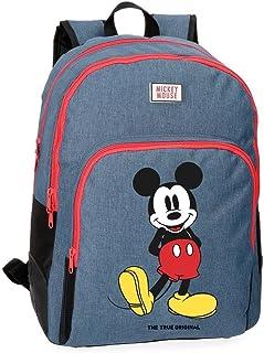 Disney Mochila Mickey Blue 42 cm doble compartimento