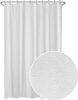 MAYTEX Herringbone Ultimate Waterproof Fabric Shower Curtain or Liner, 70