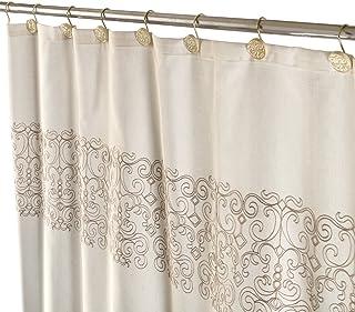 Creative Scents Shannon Fabric Decorative Shower Curtain Soft Touch Waterproof Polyester Bathroom Curtain Bonus a PEVA Sho...