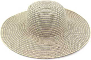Foldable Hat Summer Visor Beach Hat Big Hat Vacation Straw Hat Women Seaside Sun Protection Sun Hat` TuanTuan (Color : Gray, Size : 56-58CM)