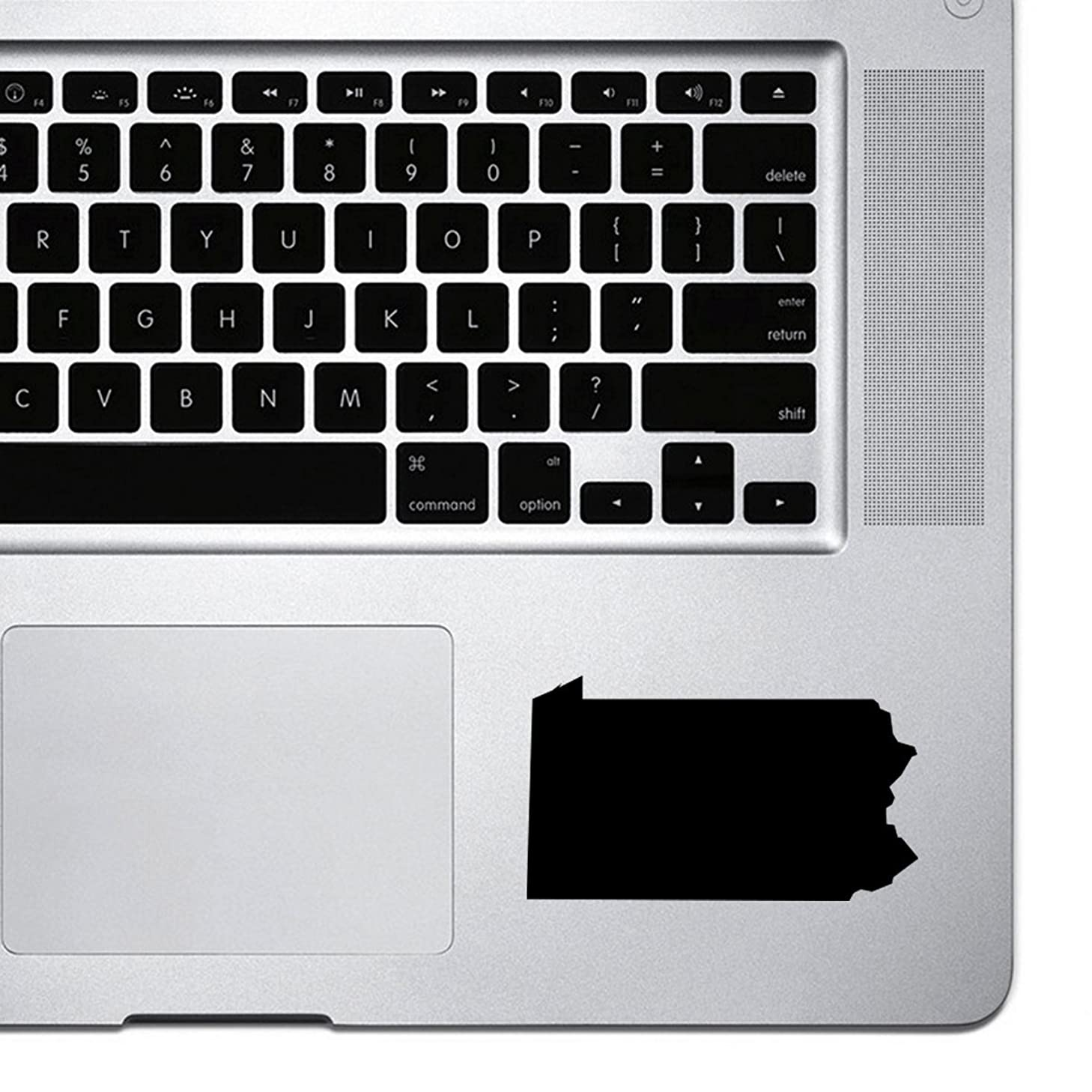 StickAny Palm Series Pennsylvania PA Sticker for Macbook Pro, Chromebook, and Laptops (Black)