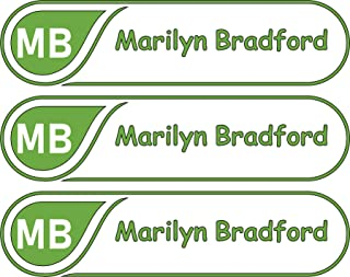 All-purpose, Custom Name Labels, Name And Initials, Multiple Colors And Sizes, Waterproof, Microwave And Dishwasher Safe, Washer And Dryer Safe, Custom Name Label For Camp, Personalized Labels