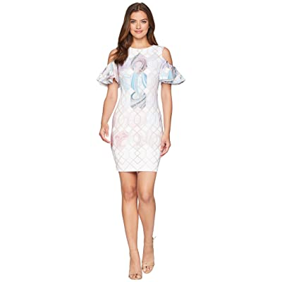 Ted Baker Krimba Sea of Clouds Pencil Dress (White) Women