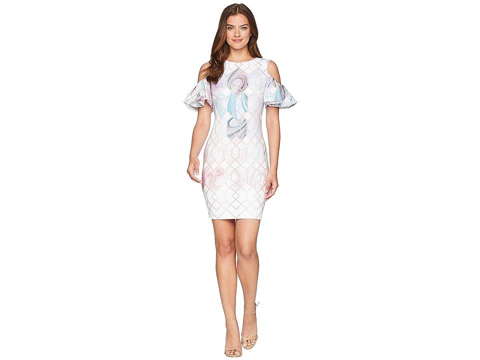 Ted Baker Krimba Sea of Clouds Pencil Dress (White) Women