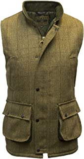 mens tweed shooting gilet