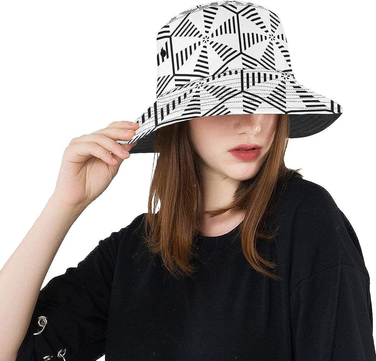 Male Sun Hat Black Striped Fishing T Miami Mall Dallas Mall Summer Triangles Unisex