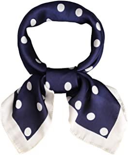 SOJOS Vintage Bandanas Square Polka Dot Scarfs for Women 27'' x 27'' Silk Like Scarf Neckerchief Grace SC317