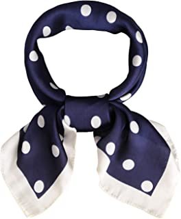 SOJOS Vintage Square Silk Neck Scarf Polka Dot Scarfs For Women 27'' x 27'' Neckerchief Grace