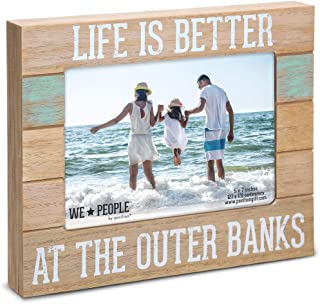 Pavilion Gift Company 5x7 Inch Self Standing Picture Frame Life is Better at The Outer Banks, 5x7, Brown