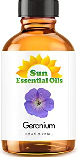 Geranium Essential Oil (Huge 4oz Bottle) Bulk Geranium Oil - 4 Ounce