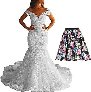 2017 Mermaid Wedding Dresses Off Shoulder Womens Long Bridal Gowns UX030